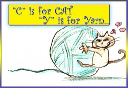 A cat and a ball of yarn are best friends!!