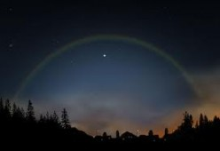 What is a moonbow? What are the factors involved in its creation?