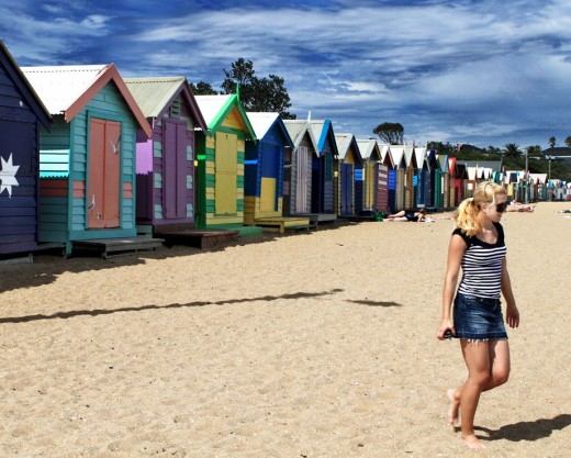 Bathing Huts @ Brighton Beach