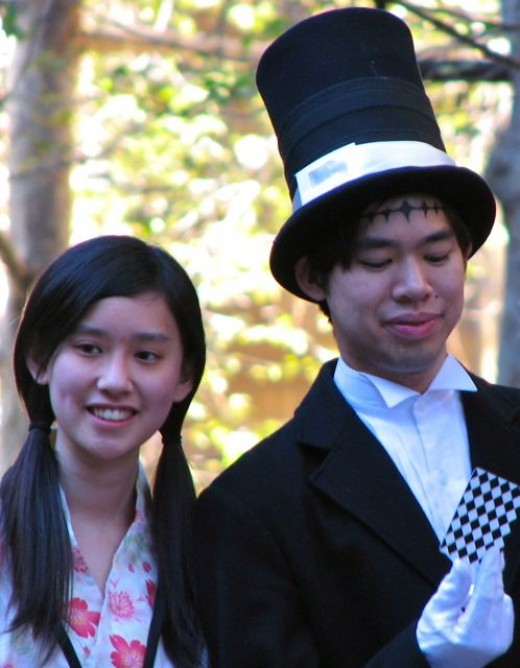 Portrait of cosplayers at Manifest, Australia. Canon Powershot S3 IS at full zoom.