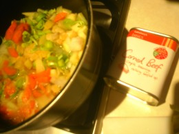Add carrots, onions, leeks and potatoes to make corned beef hash