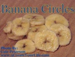 Bananas cut up into circles