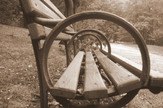"""Bench Concentric - Sepia"""