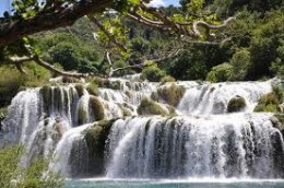 Skradinski Buk, one of the seven natural waterfalls to be found at the Krk Croatian National Park. It is the largest and most photographed of all the natural falls.