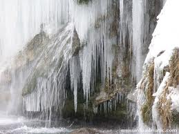 The frozen water falls at the National Park provide a Narnia type impression.