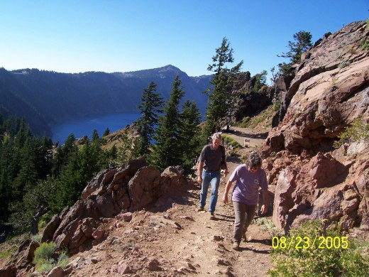 Hiking some of the trails on the mountains surrounding Crater Lake.