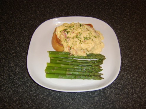 Scrambled eggs on toast - or scrambled duck eggs with smoked salmon and steamed asparagus?