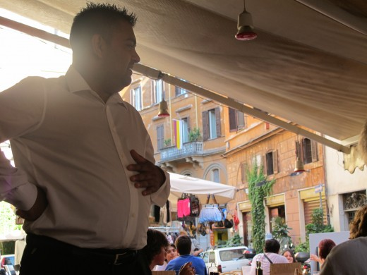 Waiter at cafe Zio Ciro