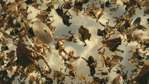 Battle Scene Between the Olympians and the Titans