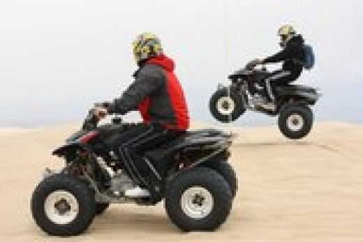 You can rent these ATV's and ride them on the sand dunes!