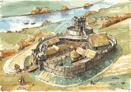 Earl of Northumbria's 'garth' (fortified palace) at Jarrow