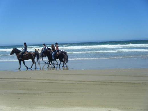 You can go horseback riding right on Pismo Beach!