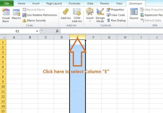 What Is A Column In Excel