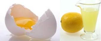 egg whites and lemon juice mask