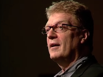 Sir Ken Robinson giving his 'Bring on the learning revolution' in 2010