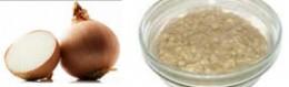 Onion and Oatmeal Facial Mask