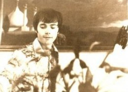 This is me back in the 1970s when my Hollywood art career was in full swing. My painting, Palace of Ari-Delia is in the background. Courtesy: Today's Professionals magazine.