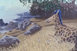 "My painting, ""Dawn on Rigel IV"" (detail), 30x60, acrylic on canvas. Copyright Carl Martin."