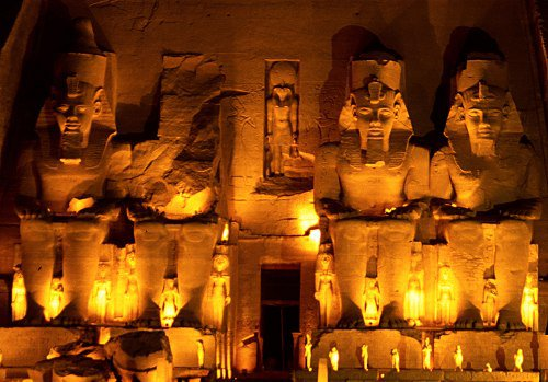 The Great temple of Abu Simbel, moving it was one of the great engineering feats of the present day.