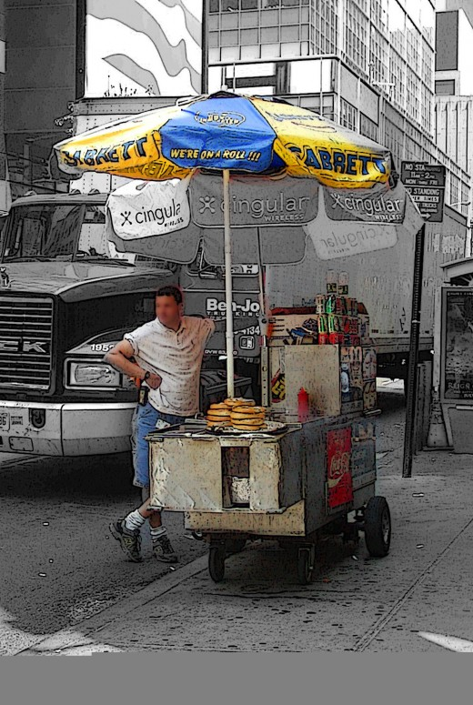 NYC Hot Dog Cart - A tradition   © Eric Heifetz