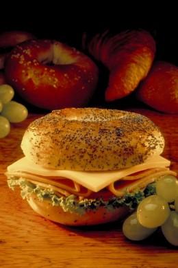 Turkey and Cheese Breakfast Bagel