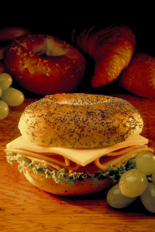 Turkey and Cheese Breakfast Bagel