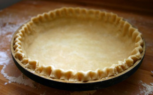 perfect pie crust, ready to be filled