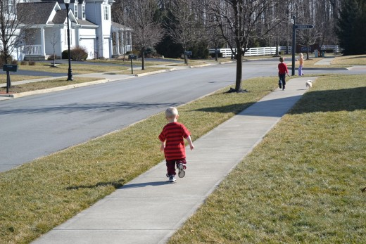 My Two Year Old Doing His Sprints