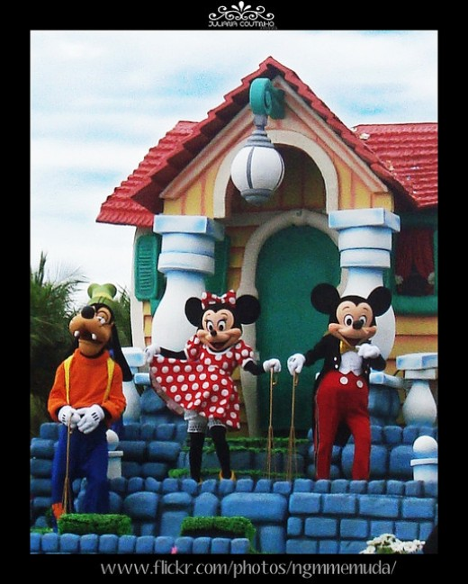 (FROM LEFT) WALT DISNEY'S GOOFY, MINNIE MOUSE AND AMERICA'S FAVORITE RODENT, MICKEY MOUSE.