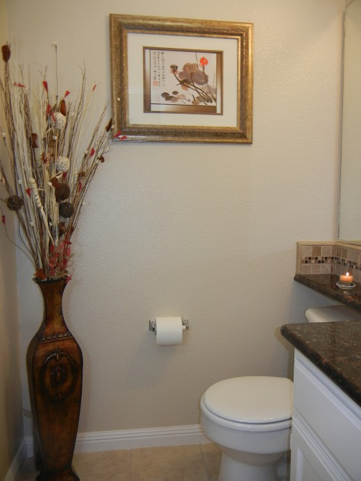 Create comfortable space for you, your family and your guests to enjoy, even in the bathroom.