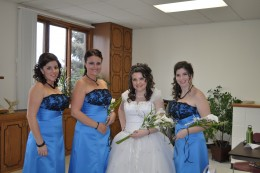 My sisters and me before the wedding. This was one of the reasons I began the journey in the first place!