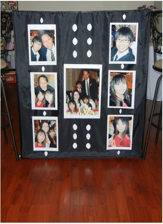 And tested the result before hanging it up on the wall.  It works better than custom photo frames.