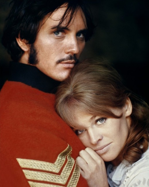 Terence Stamp (as Sergeant Troy) and Julie Christie (as Bathsheba)