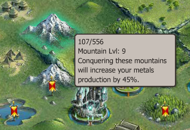 Right next to my main city, there is a level 9 Mountain.  I would prefer to use a level 10 mountain as my farming spot, but because of the close proximity, the level 9 will do.