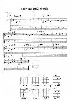 Guitar chords lesson - add 9 chords