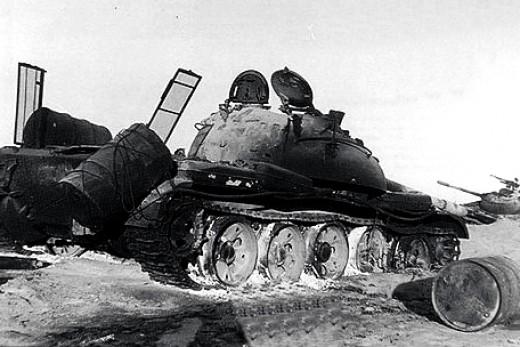 Two burnt tanks at Longewala
