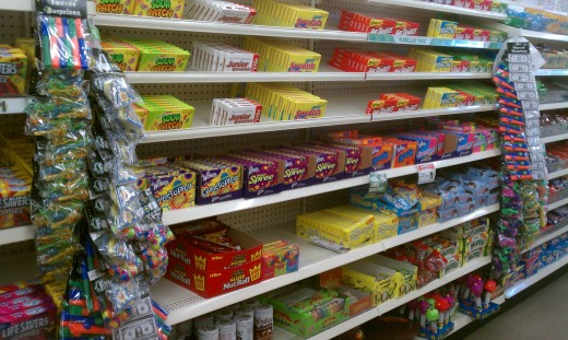 The Dollar Tree has the same candy and snacks that you can get at the movie theater for a fraction of the price.