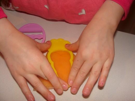 Cantaloupe makes a perfect carrot!