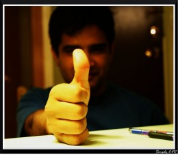 Success is a big thumbs up!