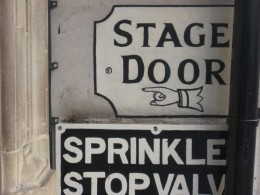 Your front door is the stage door! Don't forget to get into character.
