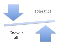 Let people know that you know it all or have tolerance for difference
