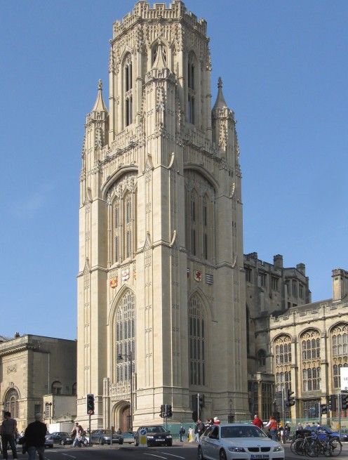 The Wills Memorial Building, a part of the University of Bristol