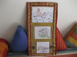 Hang your own handmade paintings, drawings or collages on your home walls