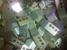 Mild steel zinc plated and colour passivated  brackets.