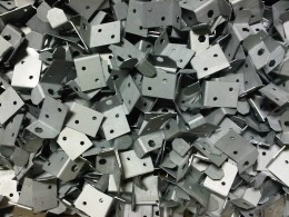 Zintec angle brackets CNC punched and CNC bent using Trumpf manufacturing equipment.