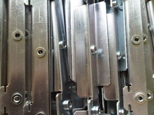Angle brackets made from mild steel, treated zinc plated and clear passivated.