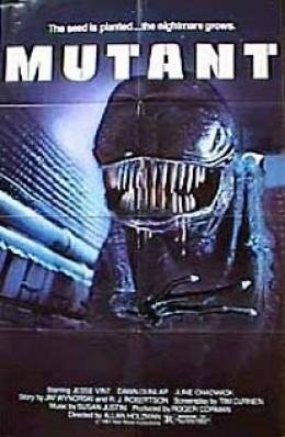 "Film poster under the alternate ""Mutant"" title"