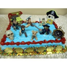 Pirates of the Caribbean cake toppers