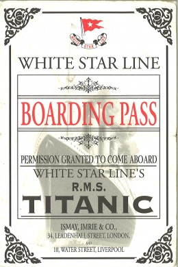This is the ticket from the Milwaukee Public Museum. Visitors would get these for the display related to the Titanic.