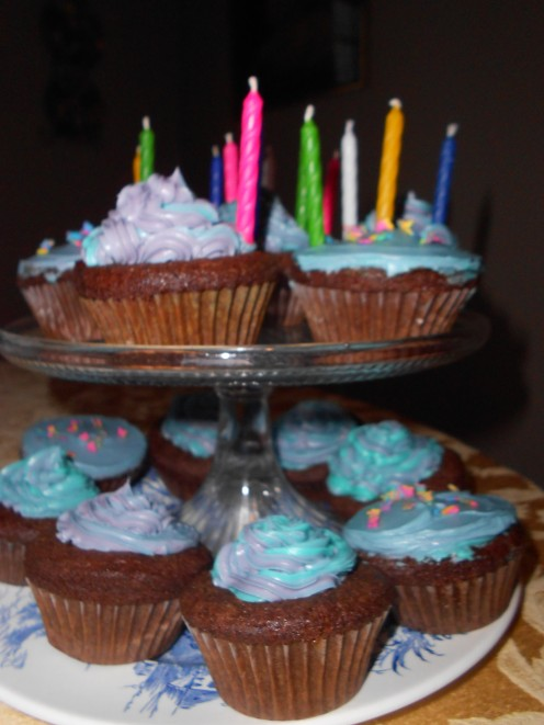 Wheat and Gluten Free Chocolate Cupcakes with buttercream icing - perfect for a birthday girl or boy!